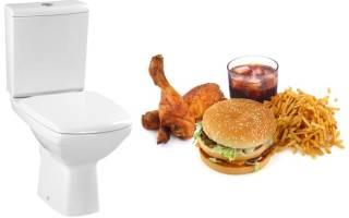 Понос после жирной пищи