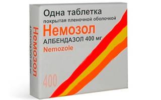 Немозол при лечении описторхоза у взрослых