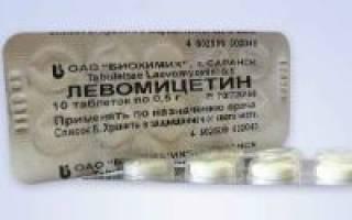 Таблетки Левомицетин при поносе (диарее)
